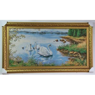 Сім'я лебедів NEW (133,5*74,5 см.)