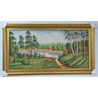 Стежинка, ліс, озеро (133,5*74,5 см.)