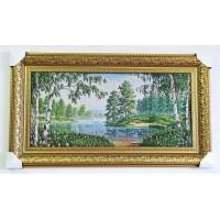 Гобіленова картина Берези біля озера