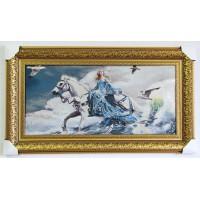 Дівчина на коні, море, чайки (88*47 см.)