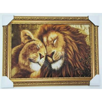 Закохані леви (64*48 см.)