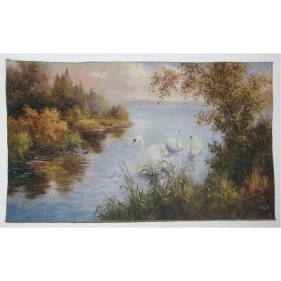 Природа пейзаж лебеді (119*67 см.)