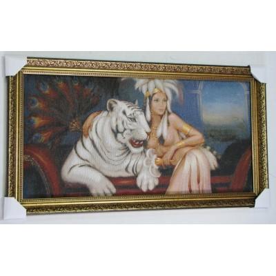 Жінка з білим тигром (104*57 см.)