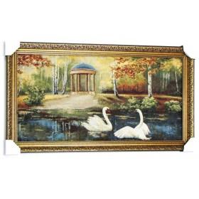 Пара закоханих лебедів (102*56 см.)