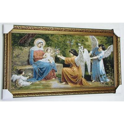 Марія з Ісусом та ангели (101*53 см.)