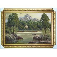 Гобіленова картина Гірське озеро
