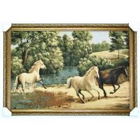 Коні біжать по воді (110*77 см.)