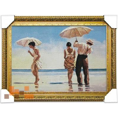 Дівчата море з парасольки (65.5*48.5.)