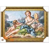 Дівчина та ангелок (65.5*48.5 см.)