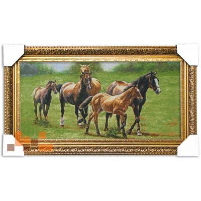 Гобеленова картина Коні 67х38 см.