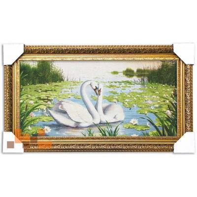 Лебеді в ліліях (67*38 см.)