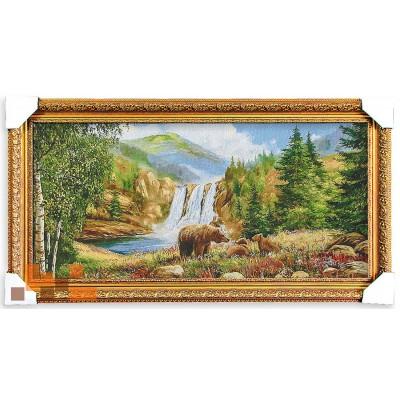 Водопад природа ведмеді (87*47 см.)