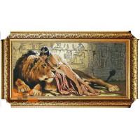 Клеопатра і лев люрекс (107*57 см.)