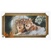 гобеленова картина Пара вовків 107х57 см.