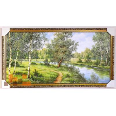 Стежинка біля річки берізки 107*57 см