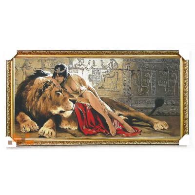Клеопатра і лев 127х68 см.