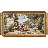 Гобіленова картина Клеопатра с тигром