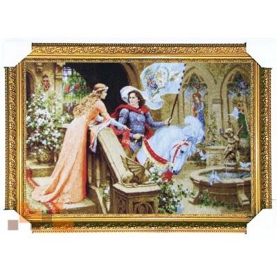 Лицар на коні та дівчина 55х80 см