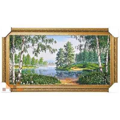 Річка і зелений ліс 87х47 см