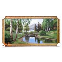 Місток через річку- картина з гобелену