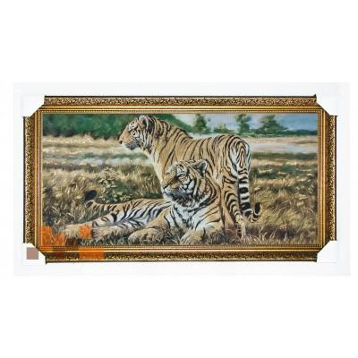 Пара тигрів 107х58 см.