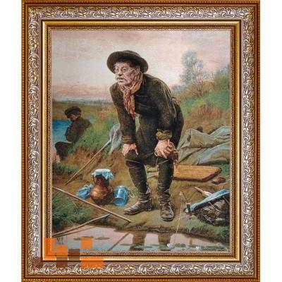 Гобеленова картина Риболов, Перов 83х98см