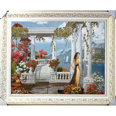 Гобеленова картина Жінка на набережній 110х87см