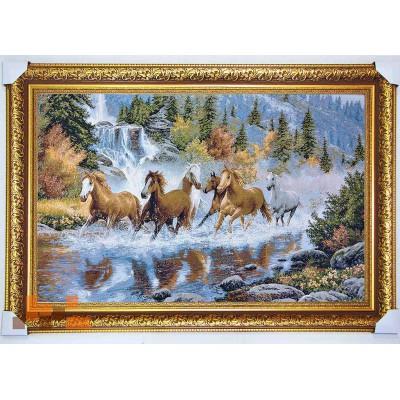 Бегущие лошади 134х86см