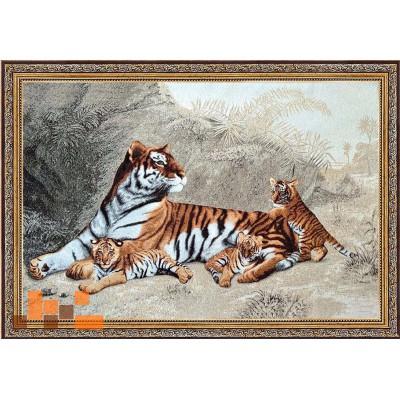 гобеленова картина Тигриця з дітками 111х77см