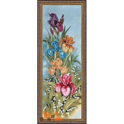 гобеленова картина Кольорові іриси 41х104см