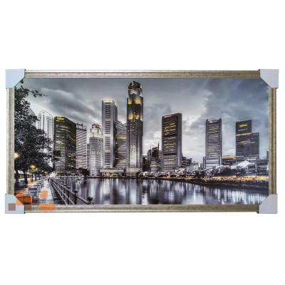 744 картина Місто вночі мегаполіс 105х55 см