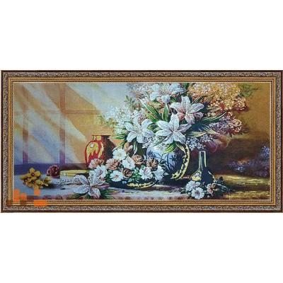 Квітковий натюрморт, люрекс(84х43)