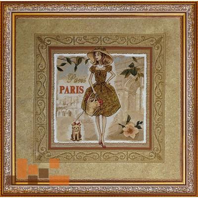 Дама, Париж (54х54)