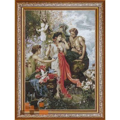 Дівчата та голуби (116х81)