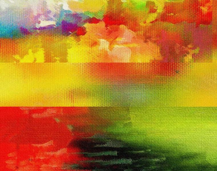 Абстракция картина в приближении