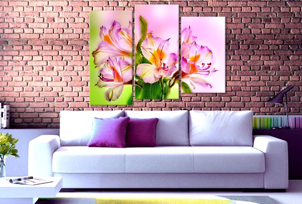 картина Альстромерия цветы