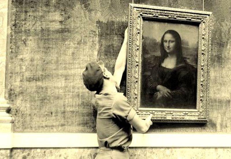 """настенные картины, как повесить """"Мону Лизу"""""""